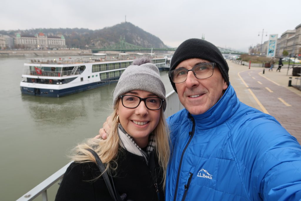 Aniko and Andrew by the Danube